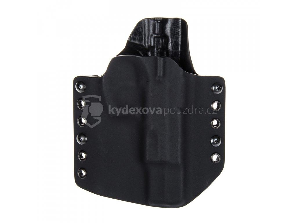 OWB - CZ 75 B - vnější kydexové pouzdro - poloviční sweatguard - černá/černá
