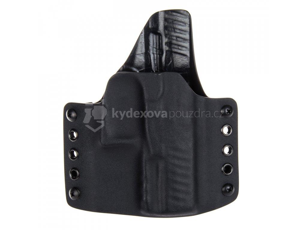 OWB - Walther PPQ - vnější kydexové pouzdro - poloviční sweatguard - černá/černá