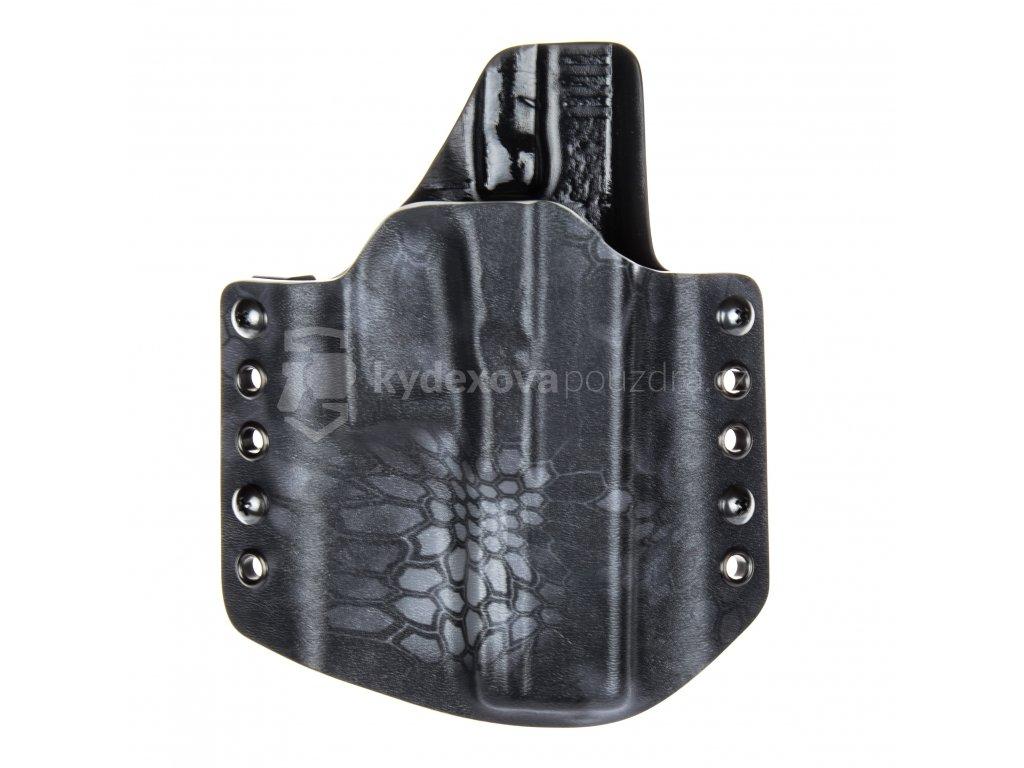 Kydexové pouzdro na zbraň Glock 17/22/31 - vnější, kryptek typhon/černá