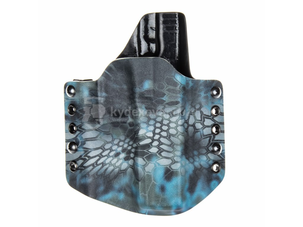 OWB - Glock 17/22/31 - vnější kydexové pouzdro - poloviční sweatguard - kryptek neptune/černá