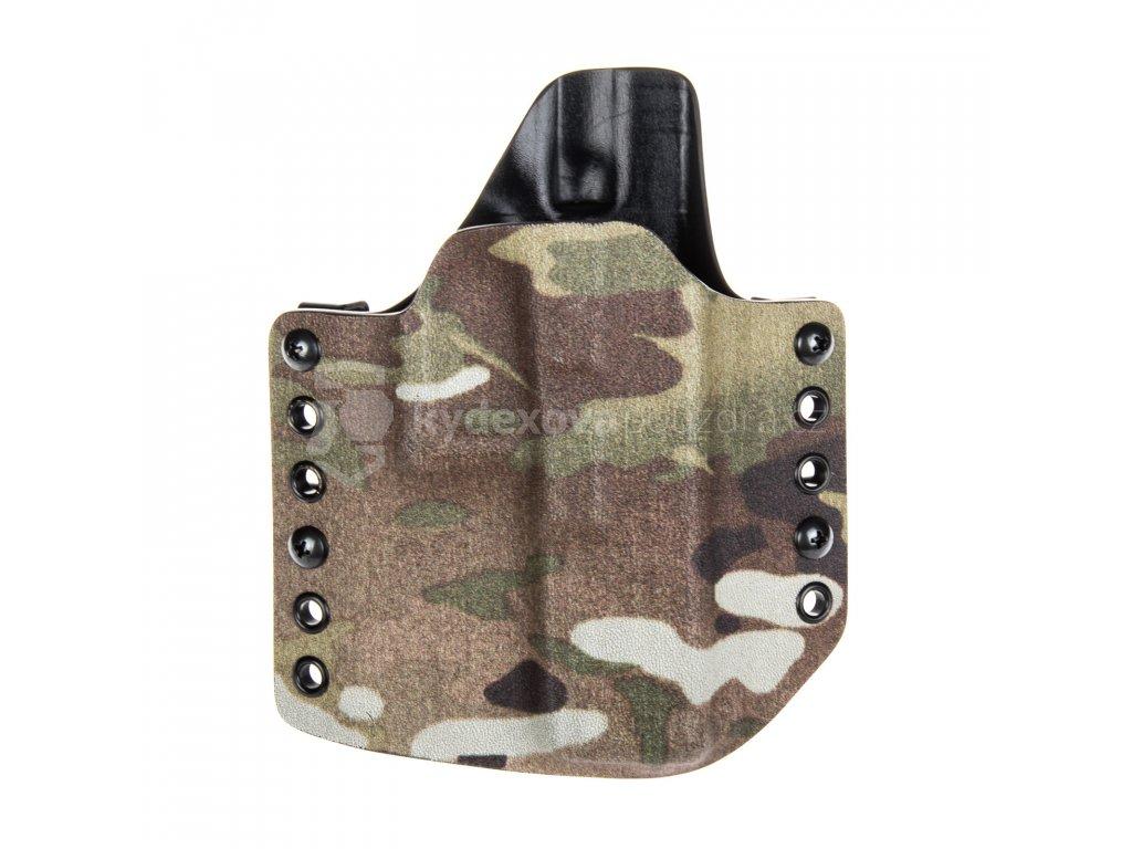 OWB - Glock 17/22/31 - vnější kydexové pouzdro - poloviční sweatguard - multicam/černá