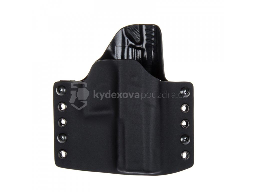OWB - CZ P-07 - vnější kydexové pouzdro - poloviční sweatguard - černá/černá