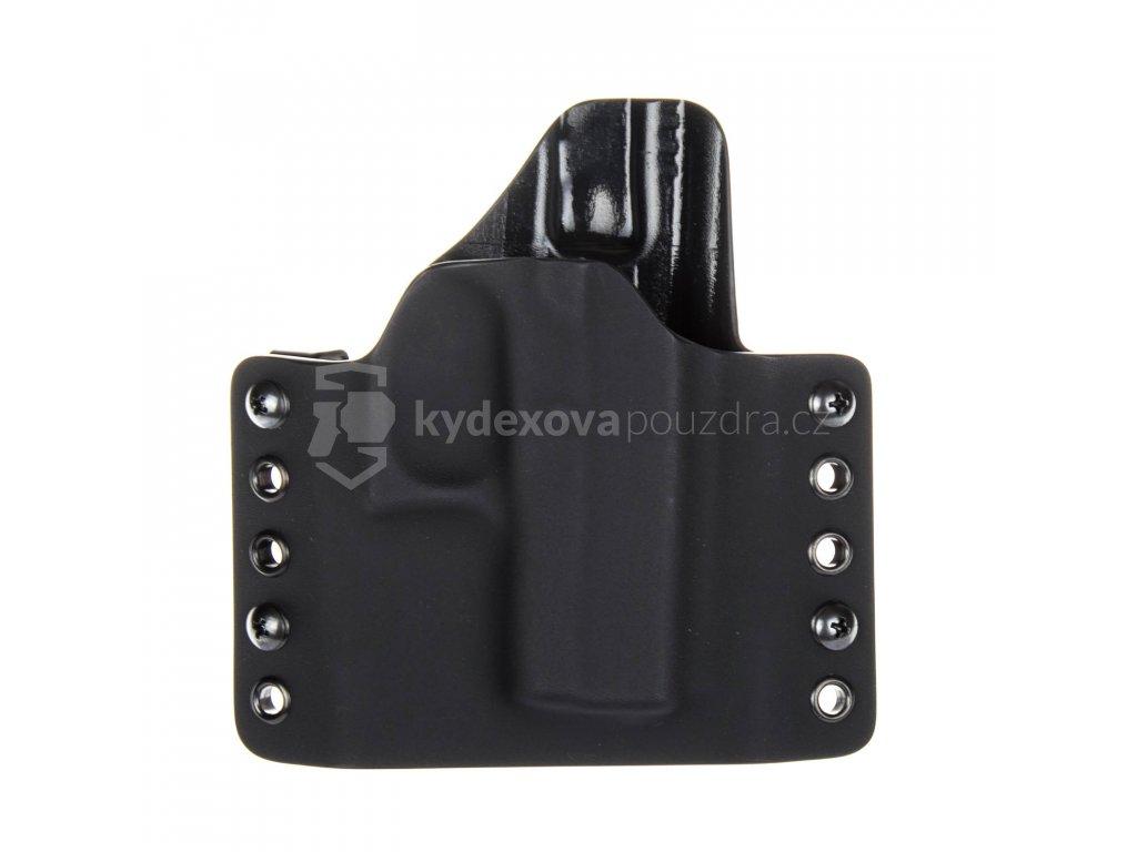 OWB - Glock 42 - vnější kydexové pouzdro - poloviční sweatguard - černá/černá