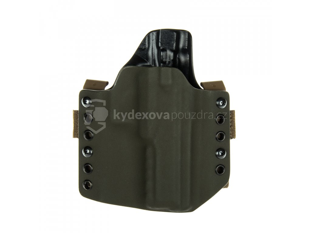 Kydexové pouzdro na zbraň CZ 75 SP-01 Phantom - vnější, olivová/černá