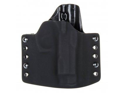 OWB - CZ 75 Compact - vnější kydexové pouzdro - poloviční sweatguard - černá/černá
