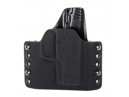 OWB - Walther PPS M2 - vnější kydexové pouzdro - poloviční sweatguard - černá/černá