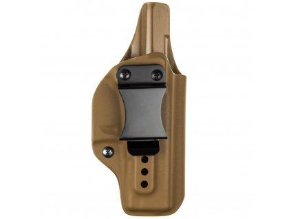 IWB - Glock 19/23/19X/45 - vnitřní kydexové pouzdro - plný sweatguard - ns - coyote hnědá