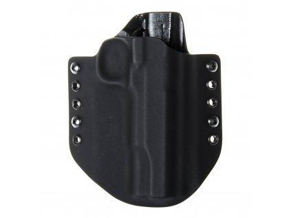 """OWB - 1911 5"""" - vnější kydexové pouzdro - poloviční sweatguard - černá/černá"""