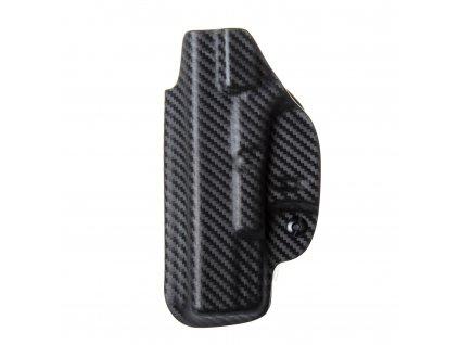 Kydexové pouzdro na zbraň Glock 19/23/32 s nastavením svoru - vnitřní, carbon