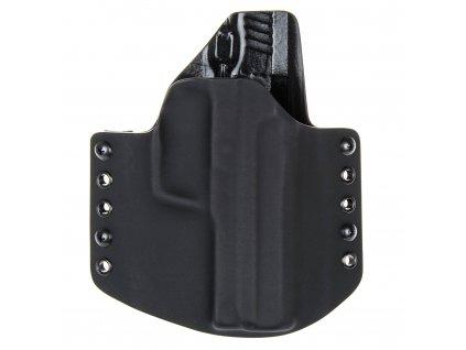 OWB - Heckler & Koch USP .45 ACP - vnější kydexové pouzdro - poloviční sweatguard - černá/černá