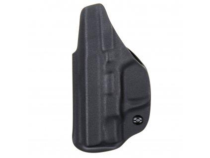 Kydexové pouzdro na zbraň Smith & Wesson M&P9 SHIELD se sweatguardem a nastavením svoru - vnitřní, černá