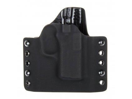 OWB - vnější kydexové pouzdro na Kahr PM9 - poloviční sweatguard - černá/černá
