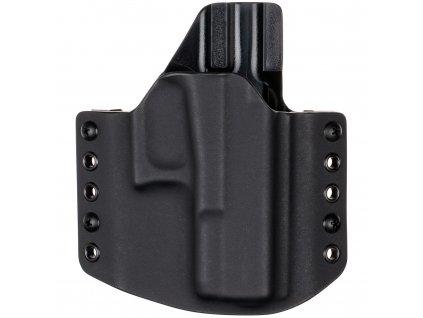 OWB - Glock 19/23/32 - vnější kydexové pouzdro - poloviční sweatguard - černá/černá