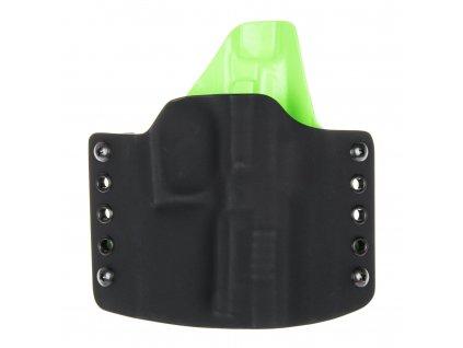 OWB - Grand Power P1 - vnější kydexové pouzdro - poloviční sweatguard - černá/zombie zelená