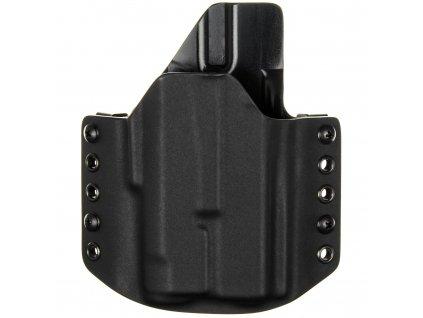 OWB - Glock 19/23/32 + Inforce APLc - vnější kydexové pouzdro - poloviční sweatguard - černá/černá