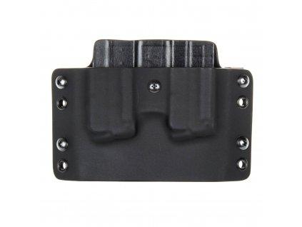OWB - vnější kydexové pouzdro na 2 zásobníky Walther PPS M2 - plný sweatguard - černá/černá