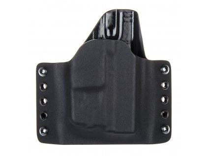 OWB - vnější kydexové pouzdro na Glock 43 + Streamlight TLR-6 - poloviční sweatguard - černá/černá