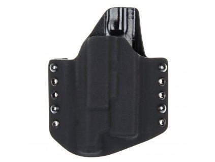 OWB - vnější kydexové pouzdro na Glock 19/23/32 + Inforce APL Gen 3 - poloviční sweatguard - černá/černá