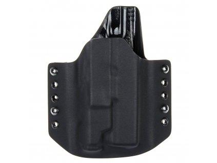 OWB - Glock 17/22/31 + Inforce APL Gen 3 - vnější kydexové pouzdro - poloviční sweatguard - černá/černá