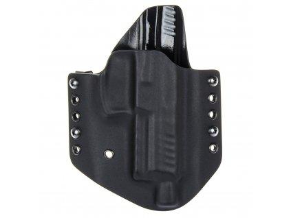 OWB - vnější kydexové pouzdro na Heckler & Koch SFP9 SD - poloviční sweatguard - černá/černá