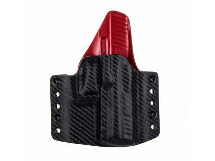 OWB - Heckler & Koch P30 - vnější kydexové pouzdro - plný sweatguard - carbon/červená