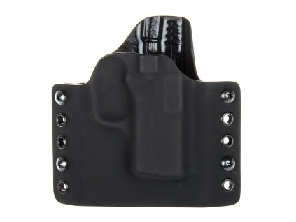 OWB - vnější kydexové pouzdro na Ruger LC9 - poloviční sweatguard - černá/černá