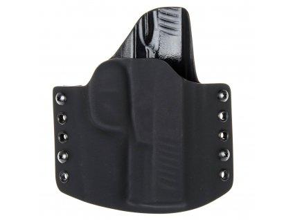 OWB - vnější kydexové pouzdro na Walther Creed - poloviční sweatguard - černá/černá