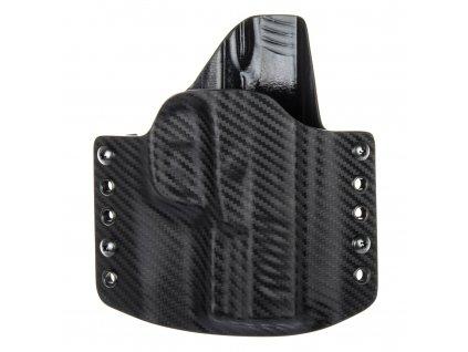 OWB - vnější kydexové pouzdro na Walther Creed - poloviční sweatguard - carbon/černá