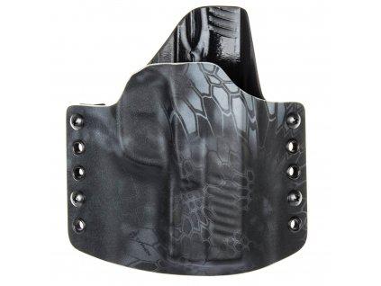 OWB - Walther Creed - vnější kydexové pouzdro - poloviční sweatguard - kryptek typhon/černá
