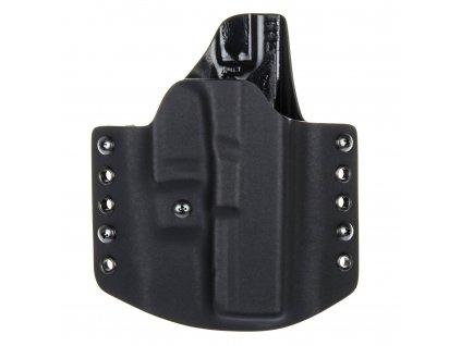 OWB - vnější kydexové pouzdro na Glock 17/22/31 - poloviční sweatguard - ns - černá/černá