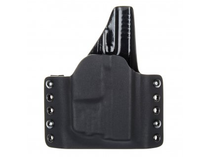 OWB - Glock 43/43X + Streamlight TLR-6 - vnější kydexové pouzdro - plný sweatguard - černá/černá