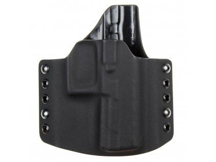 OWB - vnější kydexové pouzdro na Beretta APX - poloviční sweatguard - černá/černá