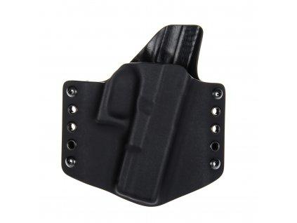 OWB - Glock 19/23/32 - Glock 19X/45 - vnější kydexové pouzdro - poloviční sweatguard - se sklonem - černá/černá