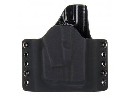 OWB - vnější kydexové pouzdro na Glock 26/27 + Streamlight TLR-6 - poloviční sweatguard - černá/černá