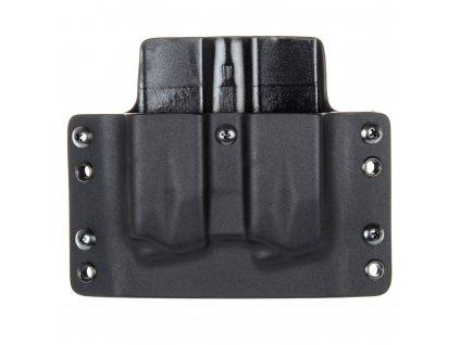 OWB - vnější kydexové pouzdro na 2 zásobníky SIG Sauer P226 - plný sweatguard - černá/černá