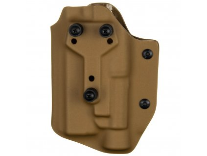 Taktické/služební kydexové pouzdro na Glock 17/22/31 + Streamlight TLR-1 - safariland - bez pojistky - coyote hnědá