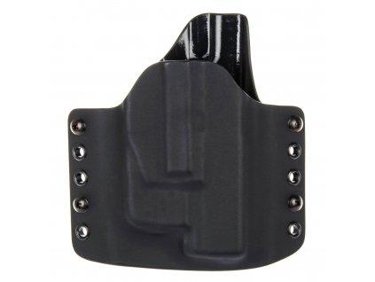 OWB - Glock 19/23/32 - Glock 19X/45 + Streamlight TLR-6 - vnější kydexové pouzdro - poloviční sweatguard - černá/černá