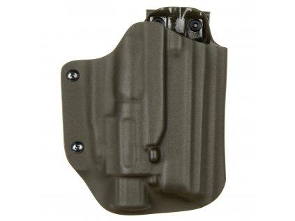Taktické/služební kydexové pouzdro na CZ 75 SP-01 Phantom + Insight M6X - MOLLE - bez pojistky - olivová