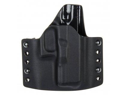 OWB - vnější kydexové pouzdro na Glock 30S - poloviční sweatguard - černá/černá