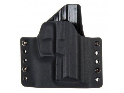 OWB - vnější kydexové pouzdro na Heckler & Koch SFP9 SK - poloviční sweatguard - černá/černá