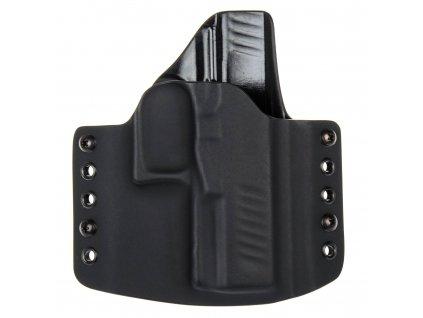 OWB - vnější kydexové pouzdro na Walther PPQ .45 ACP - poloviční sweatguard - černá/černá