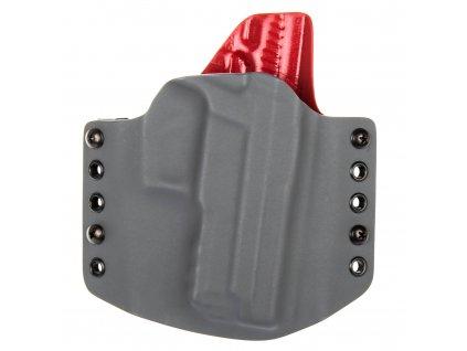OWB - vnější kydexové pouzdro na SIG Sauer P229 - poloviční sweatguard - tmavě šedá/červená
