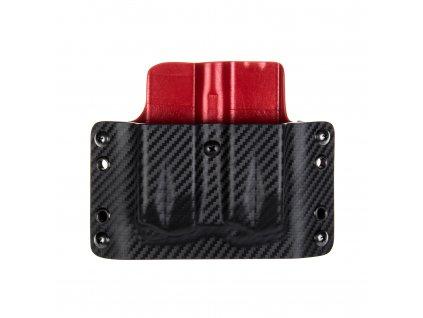 OWB - SIG Sauer P226 - vnější kydexové pouzdro na 2 zásobníky - plný sweatguard - carbon/červená