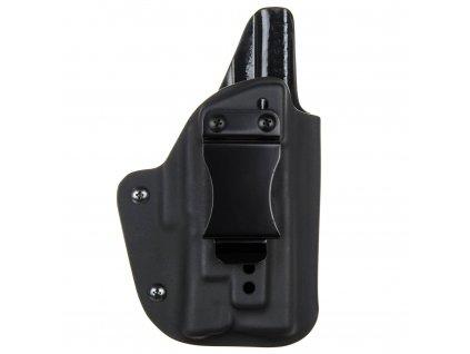 IWB - vnitřní kydexové pouzdro na Glock 19/23/32 + Surefire XC1 - plný sweatguard - ns - černá