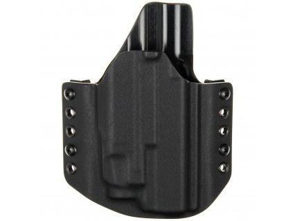 OWB - vnější kydexové pouzdro na Glock 17/22/31 + Streamlight TLR-7 - poloviční sweatguard - černá/černá