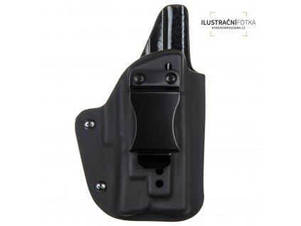 IWB - vnitřní kydexové pouzdro na Glock 17/22/31 + Streamlight TLR-7 - plný sweatguard - ns - černá