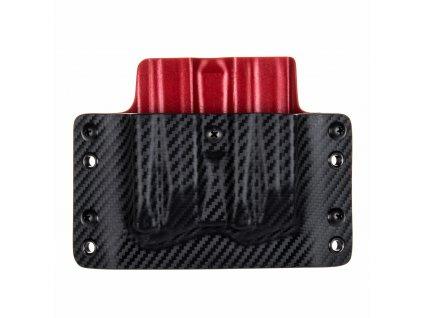 OWB - Heckler & Koch P30/SFP9 - vnější kydexové pouzdro na 2 zásobníky - plný sweatguard - carbon/červená