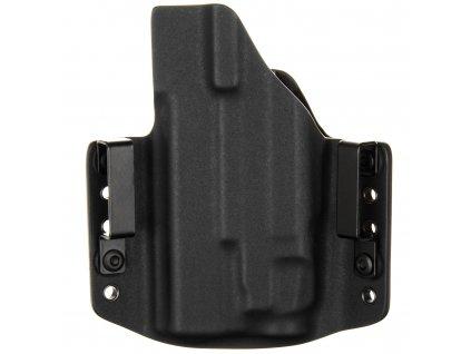 OWB - Glock 19/23/32 - Glock 19X/45 + Streamlight TLR-7 - vnější kydexové pouzdro - poloviční sweatguard - černá/černá