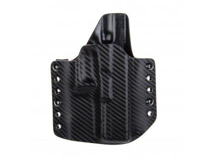 OWB - Glock 17/22/31 - vnější kydexové pouzdro - poloviční sweatguard - carbon/černá