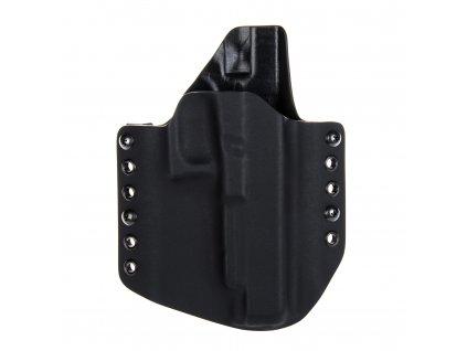 OWB - Glock 34 - vnější kydexové pouzdro - poloviční sweatguard - černá/černá